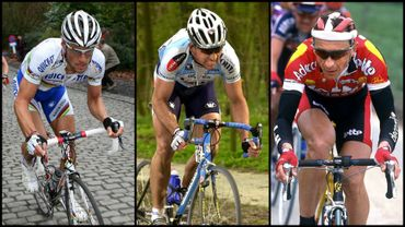 Tom Boonen, Johan Museeuw et Andreï Tchmil
