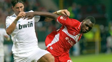 Benteke a fait un bon match face aux stars du Real Madrid