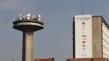 Tour et bâtiment de la RTBF à Bruxelles (Reyers) en avril 2011