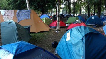 Le Parc Maximilien, devenu camp de réfugiés.