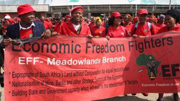 Les Combattants pour la liberté économique, le parti de Julius Malema, demandent que les fermiers blancs soient expropriés sans compensation