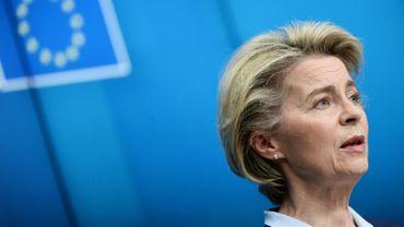 La présidente de la Commission européenne Ursula von der Leyen le 26 février 2021 à Bruxelles