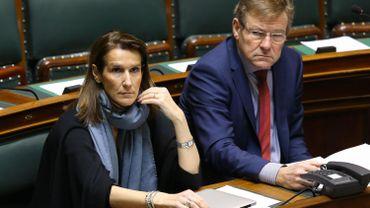 Les ministres du Budget, Sophie Wilmes (MR), et des Finances, Johan Van Overtveldt (N-VA)