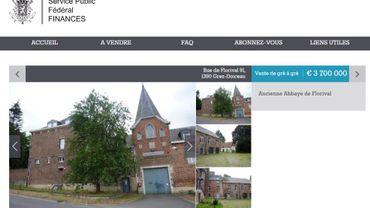 Finimmoweb: le SPF Finances lance un site de vente de maisons et... d'anciennes abbayes