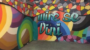 Une nouvelle fresque décore à présent le tunnel de la place de la Station, à Namur. Soit juste devant la gare.