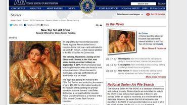 Le FBI ajoute un Renoir à sa liste d'oeuvres volées