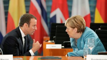 La chancelière allemande Angela Merkel et le président français Emmanuel Macron à Berlin, le 29 juin 2017