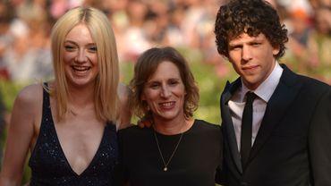 L'actrice américaine Dakota Fanning, la réalisatrice américaine Kelly Reichardt et l'acteur Jesse Eisenberg