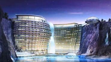Chine: une ancienne carrière reconvertie en hôtel 5 étoiles