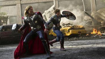 Thor et Captain America dans le film 'Avengers'.