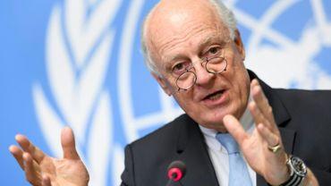 L'envoyé spécial de l'ONU pour la Syrie, Staffan de Mistura, le 15 mai 2017 à Genève