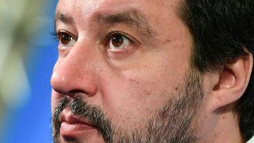 Le dirigeant de l'extrême droite italienne Matteo Salvini lors d'une conférence de presse en janvier 2020 à Bologne