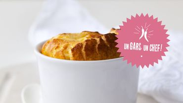 Recette : soufflé au fromage blanc et jambon d'Un Gars, un Chef !