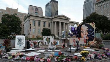 Un memorial en l'honneur de Breonna Taylor, le 23 septembre 2020 à à Louisville (Kentucky)