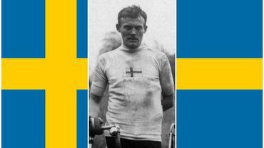 Le Suédois Harry Stenqvist, champion olympique de cyclisme sur route à Anvers