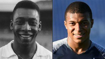 Pelé et Mbappé