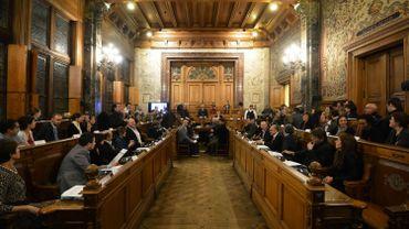 La salle du conseil communal de Schaerbeek