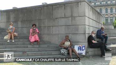 Canicule: 45 degrés ressentis à Liège, le centre-ville étouffe