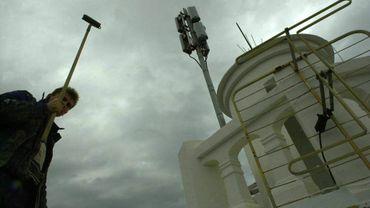 Une antenne de GSM à Saint-Servais, près de Namur.