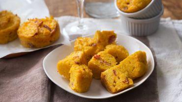 Mini-cakes de potimarron au chorizo et au comté