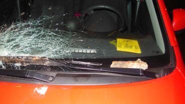 Les dégâts sur la voitures