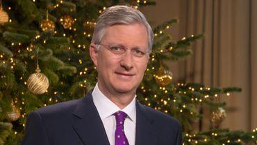 Le roi Philippe lors de son message de Noël