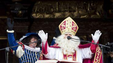 L'arrivée de saint Nicolas et du Père Fouettard à Anvers, le 18 novembre 2017.