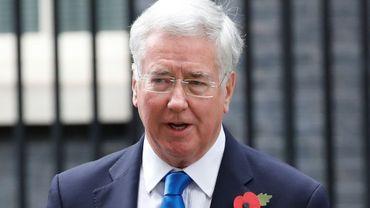 Le ministre britannique de la Défense Michael Fallon quitte le 10 Downing Street, le 31 octobre 2017