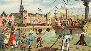 Arrivée aux Pays-Bas de Saint Nicolas en 1905.