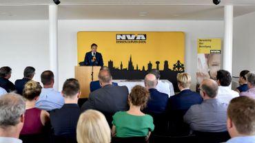 Bart De Wever, durant une conférence du parti N-VA le 30 mai dernier à Anvers.