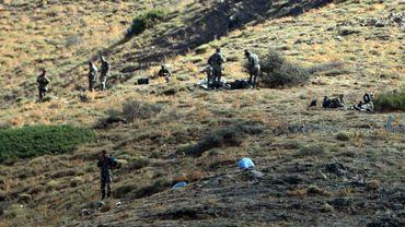 Des soldats algériens dans les zones montagneuses