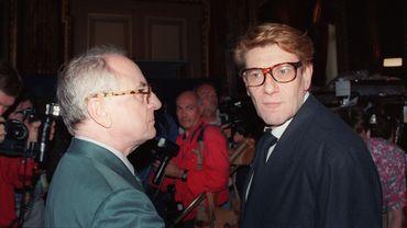 Yves Saint Laurent et Pierre Bergé en 1992