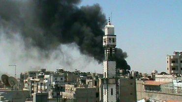 Image amateur prise dans la région d'Homs