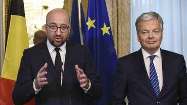 Charles Michel et Didier Reynders présentent l'accord intra-belge sur le CETA