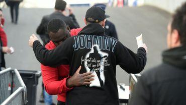 Un fan de Johnny Hallyday lors d'un concert de la star à Bruxelles en 2016.