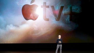 Le PDG d'Apple Tim Cook à Cupertino, en Californie, le 25 mars 2019