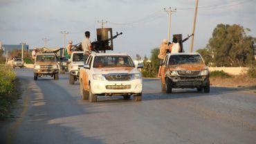 Les forces loyalistes patrouillent dans le sud de Tripoli le 22 septembre dernier.