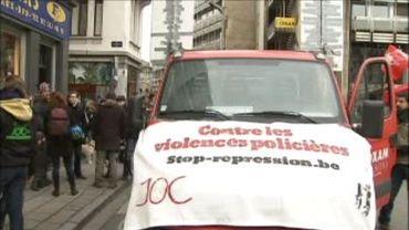 Un millier de manifestants à Bruxelles contre les brutalités policières