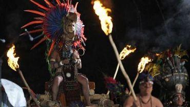 Célébration de la fin du cycle maya de 5200 ans, le 20 décembre 2012 sur le site archéologie Tikal à Peten au Guatemala