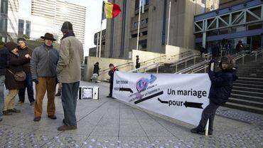 Une cinquantaine de manifestants à Bruxelles contre le mariage gay