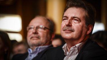 A l'avant-plan: le nouveau ministre-président bruxellois, Rudi Vervoort.