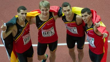 Or et record d'Europe pour le 4X400 belge