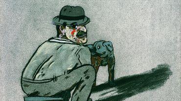 Homme et chien, 1980, Antonio Segui