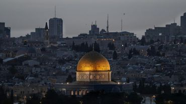 La vieille ville de Jérusalem vue depuis le Mont des Oliviers, le 24 avril 2019