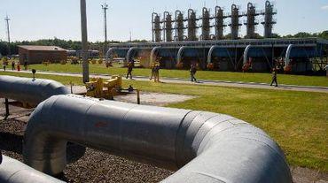 Installation de stockage de gaz à Bilche-Volytsko-Uherske, dans la région de Lviv, dans l'ouest de l'Ukraine, le 21 mai 2014