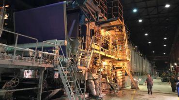 L'énorme machine de production de Virginal Paper a été réactivée en août 2018.