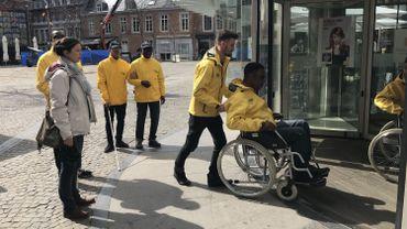 Les stewards urbains de Liège dans leur exercice de mise en situation