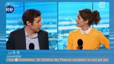 François Heureux et Sara de Paduwa co-animent la matinale commune à La Première, Vivacité et la Une.