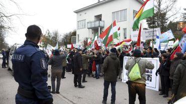 Manifestation anti gouvernement iranien le 23 novembre à Helsinki.