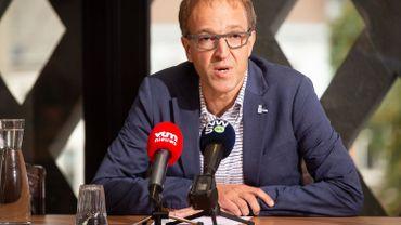 Rik Van de Walle, le recteur de l'UGent, en conférence de presse, le 6 septembre dernier.